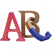 Små mdf bokstäver
