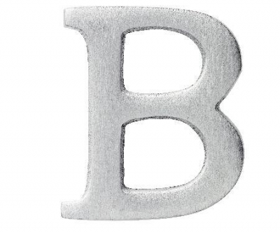Aluminiumbokstav - Bokstaven B
