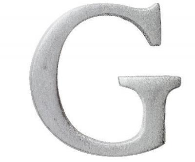 Aluminiumbokstav - Bokstaven G