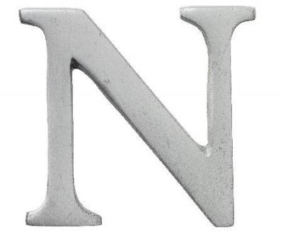 Aluminimumbokstav - Bokstaven N