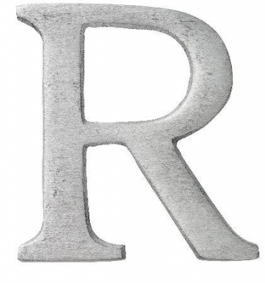 Aluminiumbokstav - Bokstaven R