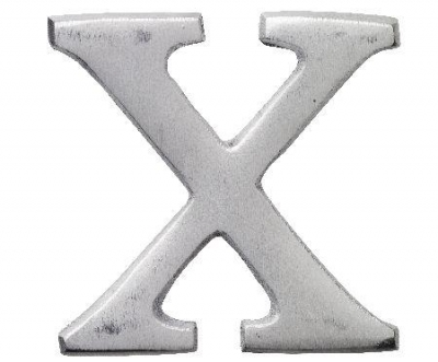 Aluminiumbokstav - Bokstaven X