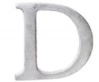 Aluminiumbokstav - Bokstaven D