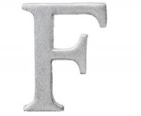 Aluminiumbokstav - Bokstaven F