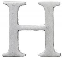 Aluminiumbokstav - Bokstaven H
