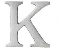Aluminiumbokstav - Bokstaven K