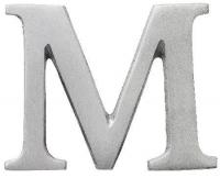 Aluminiumbokstav - Bokstaven M