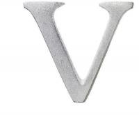 Aluminiumbokstav - Bokstaven V