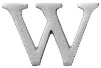 Aluminiumbokstav - Bokstaven W